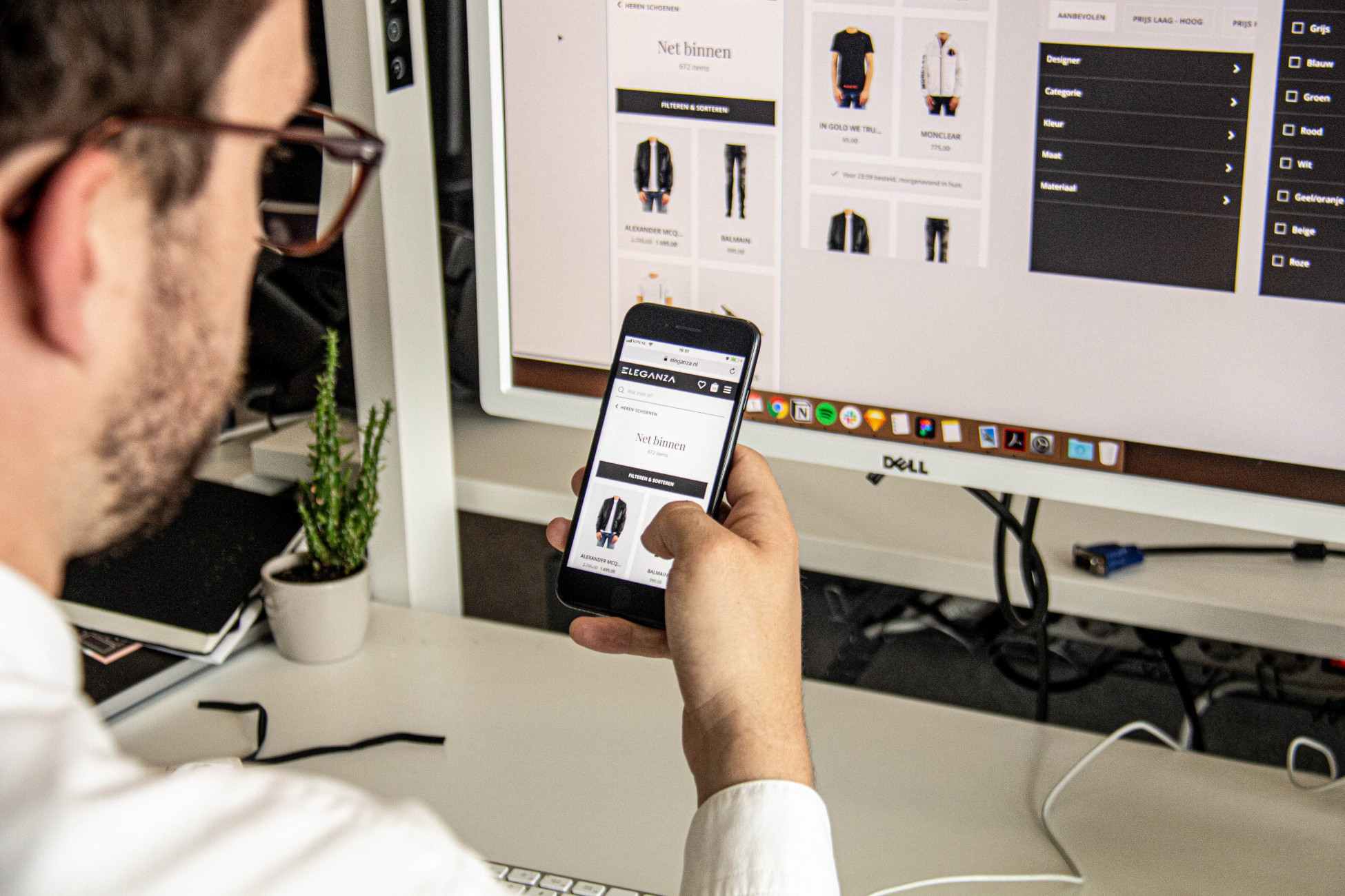 Experius technologie webshop mobile