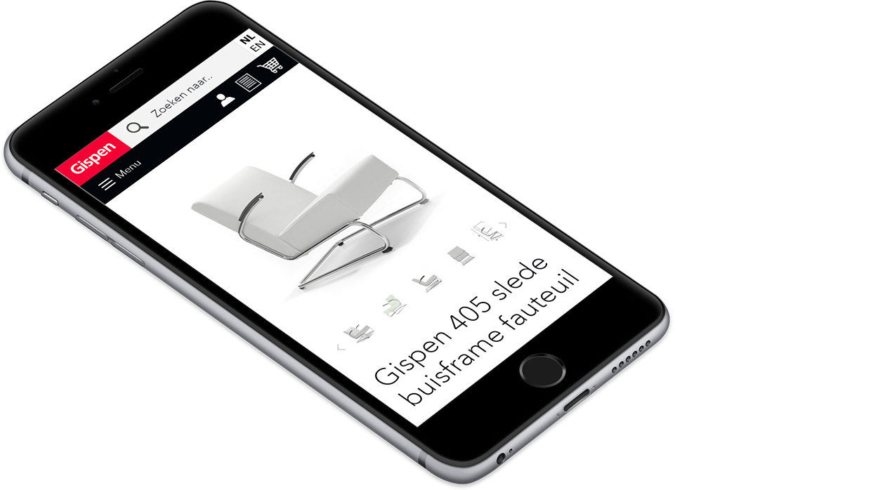 Mobile first webshop