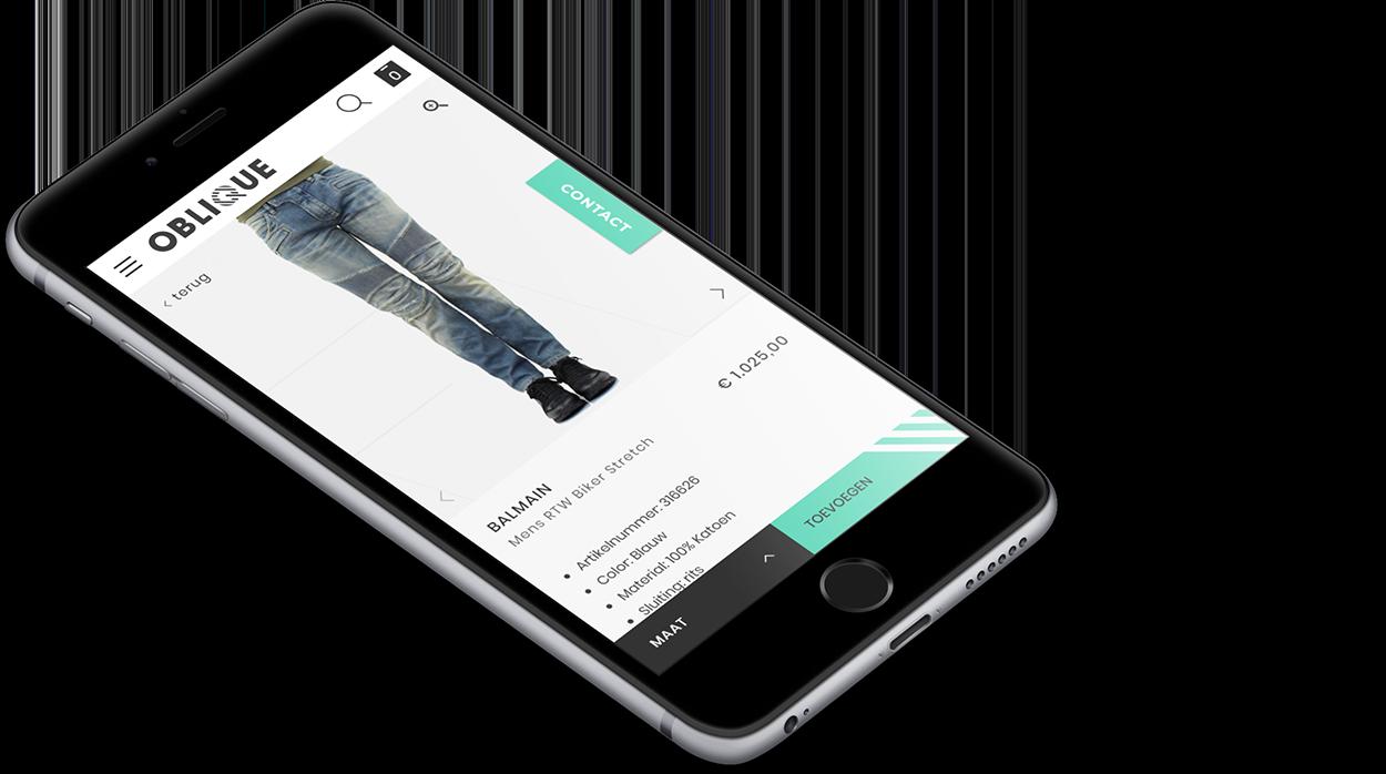 UX voor mobiel webshop Oblique