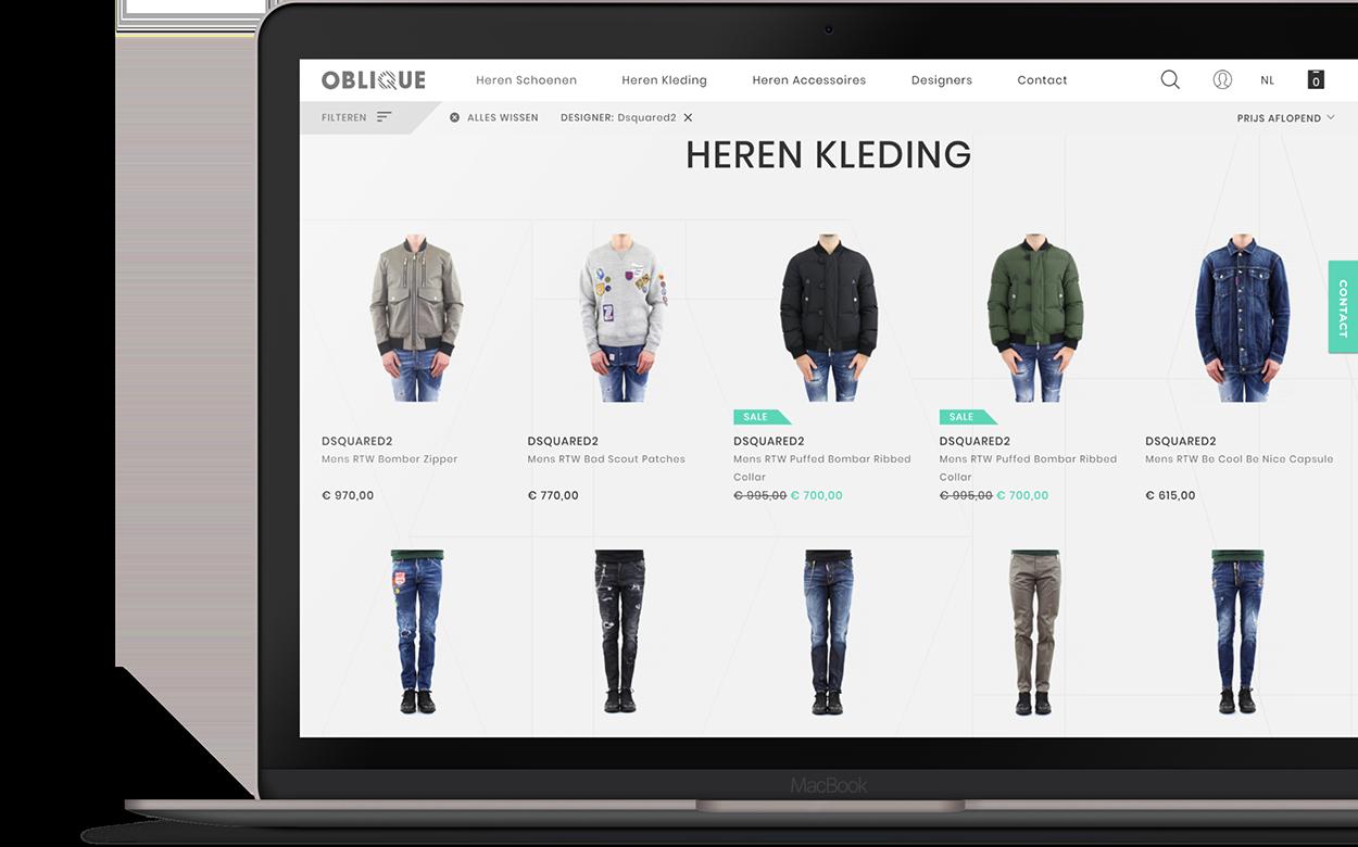 Design webshop Oblique