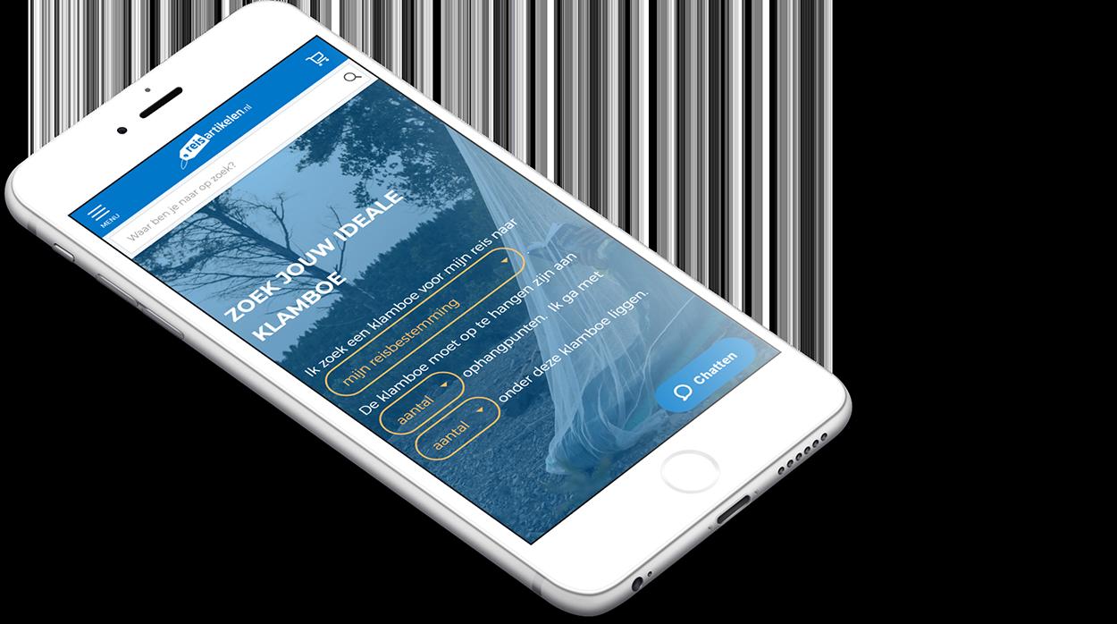 Flexibele product finder webshop reisartikelen