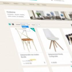 Sorteren van product overzicht pagina's